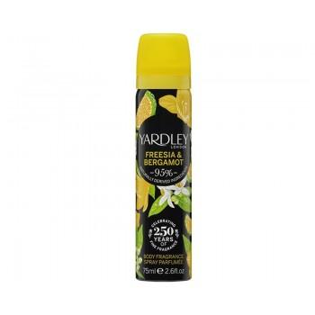 Дезодарант, 75 мл - Yardley Freesia & Bergamot Deodorising Body Spray
