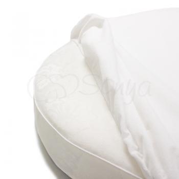 Наматрасник непромокаемый в овальную кроватку 70х120 - Msonya