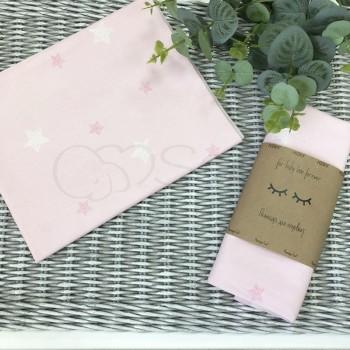 Пеленка бязь Звезды на розовом - Msonya