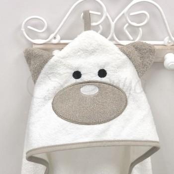 Полотенце-уголок Мишка, молочный - MSonya