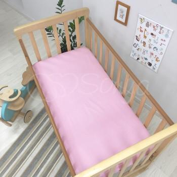 Простынь детская, ярко-розовая - Msonya