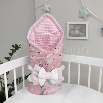 Плед Minky Единорог, розовый - MSonya