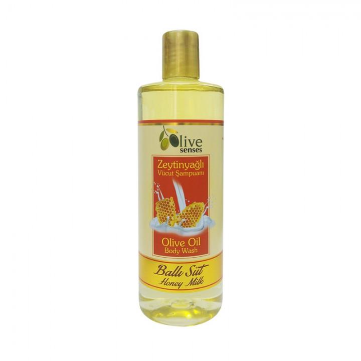Гель для душа Мед и молоко с оливковым маслом 500 мл - Selesta