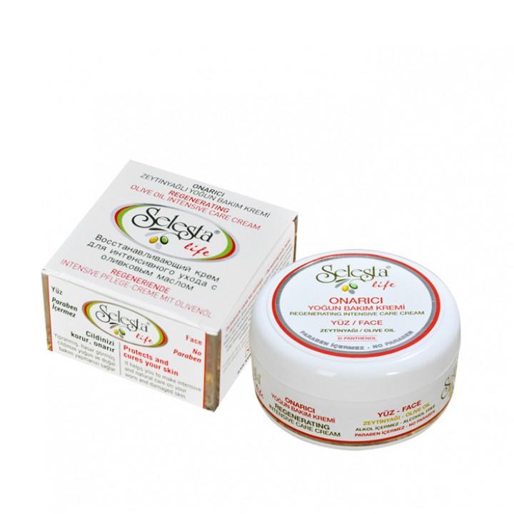 Восстанавливающий крем SELESTA life для интенсивного ухода за лицом с оливковым маслом 100 мл