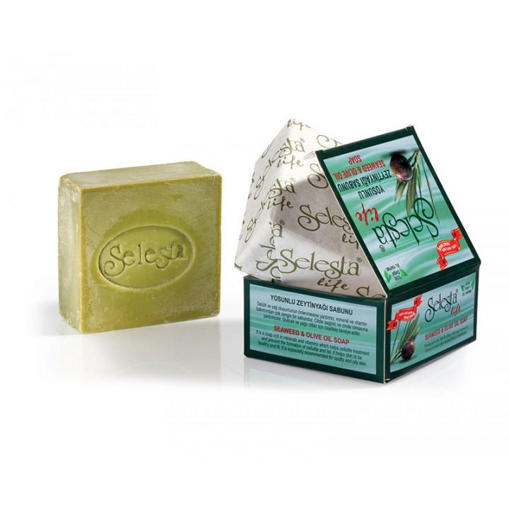 Глицериновое антицеллюлитное мыло с оливковым маслом и водорослями 170 г - Selesta